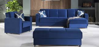 Navy Blue Leather Ottoman Ottoman Sectional Navy Blue Ottoman Roma Chair Set By