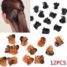 hair claw 12 pcs black mini small hair claw cls hair hair grips
