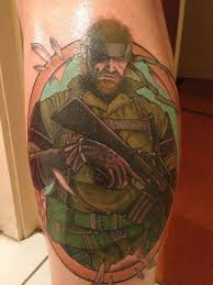 mgs3 big boss tattoo done by brisbane tattooist gaming