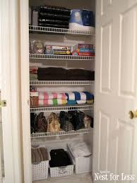 closet cleaning clean house organizing my hall linen closet how to nest for less