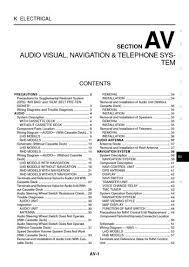 2005 nissan x trail audio visual system section av pdf