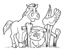 realistic farm animal coloring pages kids coloring farm