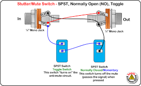 mute switch spst normally open toggle wiring diagram beavis