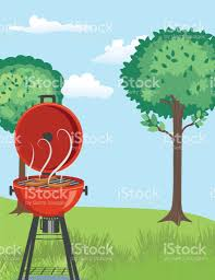 Backyard Clip Art Backyard Bbq Background Stock Vector Art 670916564 Istock