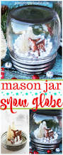 mason jar snow globe quick and easy diy holiday craft idea