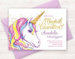 Where To Buy Birthday Invitation Cards Unicorn Invitation Unicorn Birthday Invitation Unicorn Party