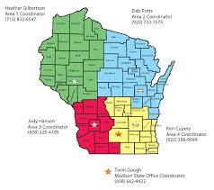 Map Of Wi Volunteers Nrcs Wisconsin