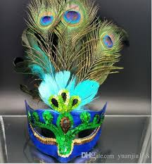 teal masquerade masks party mask woman masquerade masks luxury peacock feathers