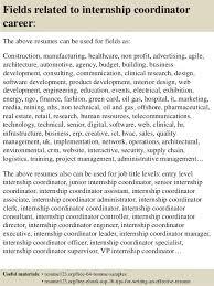 Sample Resume For Engineering Internship by Top 8 Internship Coordinator Resume Samples