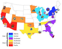 Map Of Eastern Kentucky Here U0027s A Map I Made Of All Nba Teams Organised By Conference And