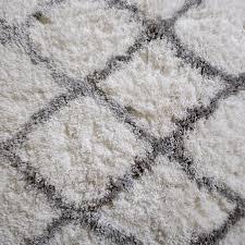Taupe Shag Rug Rugs Area Shag Rug Modern Moroccan Trellis Lattice Floor Decor