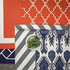Ikat Indoor Outdoor Rug Multi Color Ikat Indoor Outdoor Rug Navy Williams Sonoma