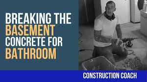 breaking the basement concrete for bathroom diy plumbing youtube