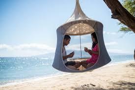 treepod a portable hanging hammock like cabana design milk