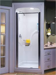 Small Bathroom Shower Stall Ideas Bathroom Delectable Design Ideas Using Small Rounded Silver