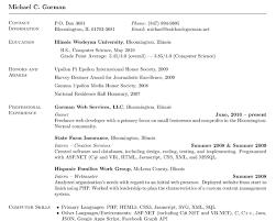 resumé in latex michael c gorman eric charters resume