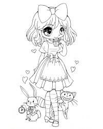 chibi coloring pages print coloring