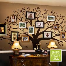 amazon com family tree wall decal chestnut brown standard size