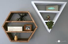 Triangle Shaped Bookcase Hexagon And Triangle Shelves My Love 2 Create