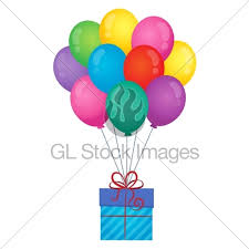 balloons gift balloons with gift theme image 1 gl stock images