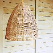 Wicker Pendant Light Pendant Light With Wicker Lampshade Stock Photo Image 48913586