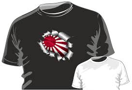 ripped torn metal design with jdm style rising sun japanese flag