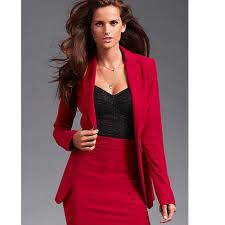 professional business women suits custom made red autumn winter
