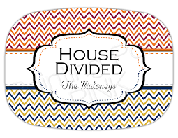 personalized melamine platters house divided personalized melamine platter chevron