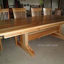 Log Dining Room Table Old Farm Amish Furniture Rustic Log Old Farm Amish Furniture