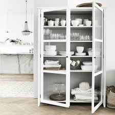 Kitchen Cabinet Accessories Uk Glass Display Cabinet The White Company Uk Home Kitchen