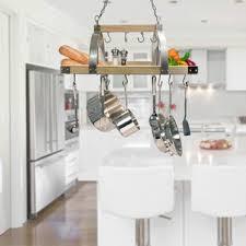 kitchen island pot rack lighted hanging pot racks you ll love wayfair