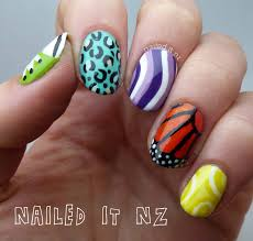 nailed it nz skittles nail art for sincerely stephanie u0027s contest