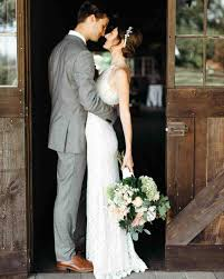 Rustic Barn Wedding Dresses Rustic Weddings Martha Stewart Weddings