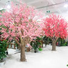 Fake Tree by High Quality Silk Artificial Pink Peach Blossom Tree Landscape