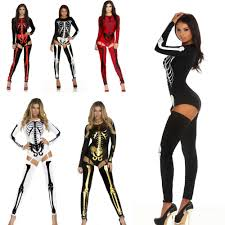 inexpensive women s halloween costumes popular skeleton catsuit womens costume buy cheap skeleton