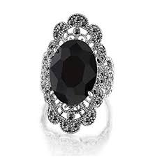 black crystal rings images Mytys vintage black marcasite and crystal cocktail jpg
