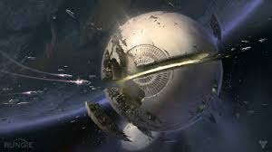 the traveler is a dyson sphere and we can peak inside or the