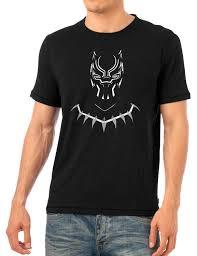 necklace shirt images Black panther face necklace shirt superhero white logo t shirt jpg