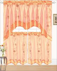 Kitchen Sheer Curtains by Kitchen Spice Colored Valances Orange Kitchen Curtains Spice