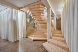 gallery of acme u0027s wildly twisting wooden staircase draws