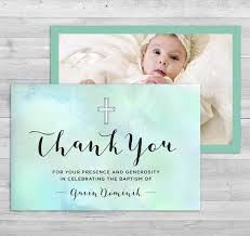 religious thank you cards baptism thank you card girl baptism thank you boy baptism
