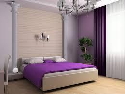 Purple Design Curtains Interior Alluring Purple Bedroom Interior Using White Window