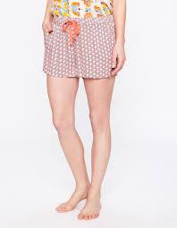 la fiancee du mekong achat en ligne short de pyjama imprimé géométrique beige la fiancée du mékong
