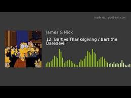 12 bart vs thanksgiving bart the daredevil