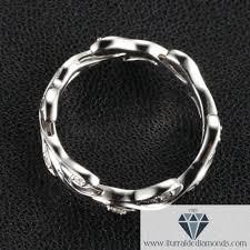 art deco 14k gold u0026 diamond branch and leaf pattern wedding band
