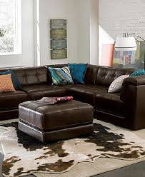 Stacey Leather Sectional Sofa Stacey Leather 6 Modular Sectional Sofa 3 Armless Chairs 2