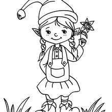 printable elf girl sweet idea free printable elf coloring pages christmas free