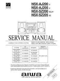 aiwa nsx sz200 loudspeaker electronic engineering