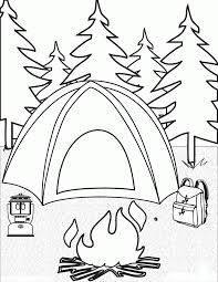 camping coloring pages childrens printable free coloring
