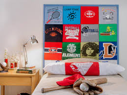 15 creative kid s room decor ideas diy network blog made diy t shirt headboard